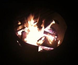 Campfire at Red Streak near Radium